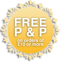 Free postage and packing on orders of £10 or more.