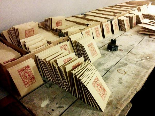 I have been a busy chap preparing seed packets for Autumn sowing.