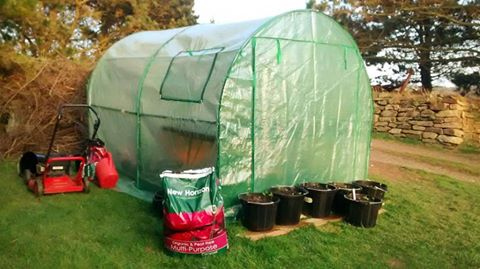 A simple grow tunnel like this is perfect for most domestic cutting patches.