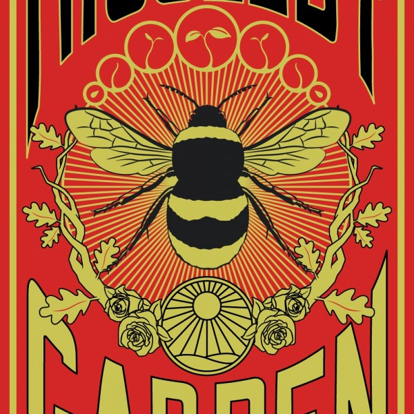 Bee Poster - Red Black Green